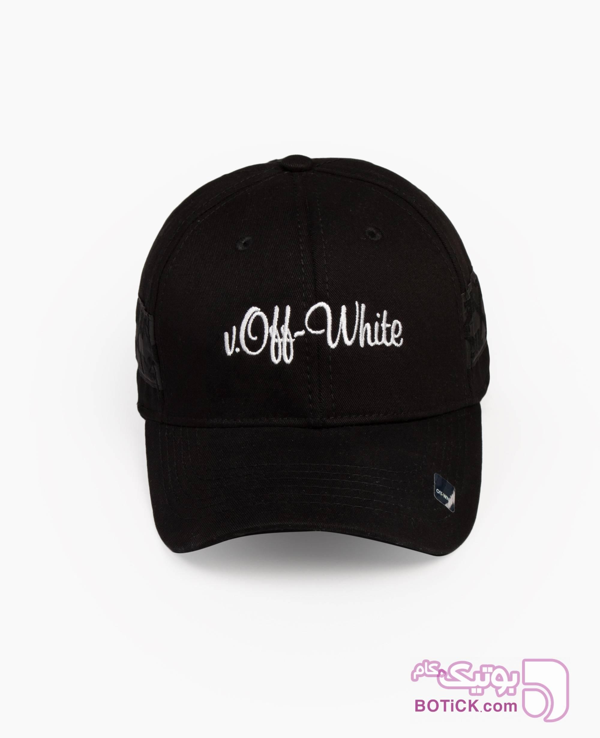 کلاه لبه گرد Off White کد 7531 مشکی کلاه و اسکارف