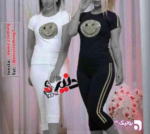 ست دوتیکه تیشرت شلوار - ست ورزشی زنانه