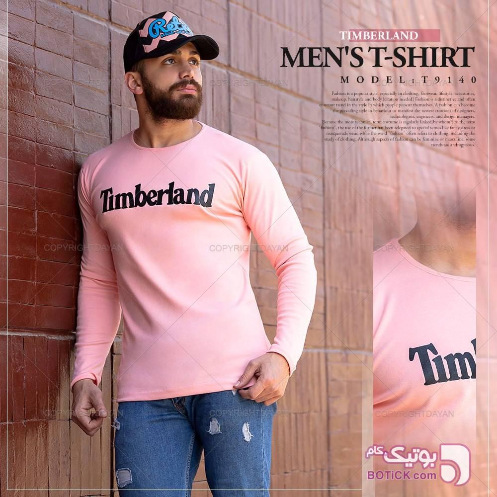 تیشرت مردانه تیم برلند  صورتی تی شرت و پولو شرت مردانه