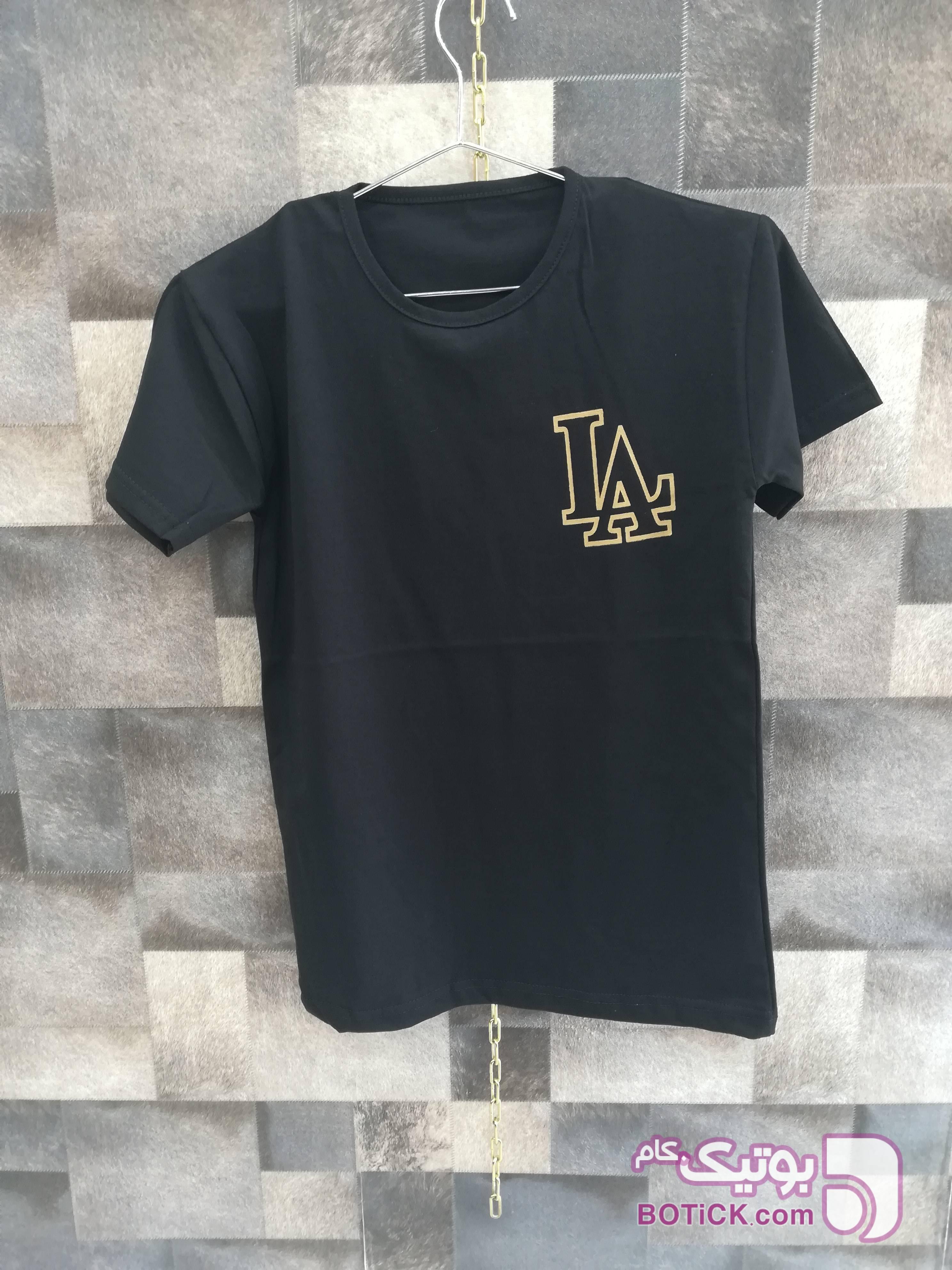 تیشرت چاپ LA مشکی تی شرت و پولو شرت مردانه