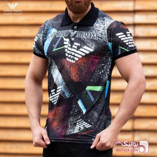 پولوشرت مردانه Giorgio Armani مدل T9347 مشکی تی شرت و پولو شرت مردانه