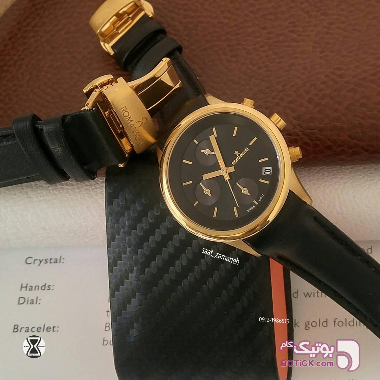 ROMANSON ست زنانه/مردانه زرد ساعت