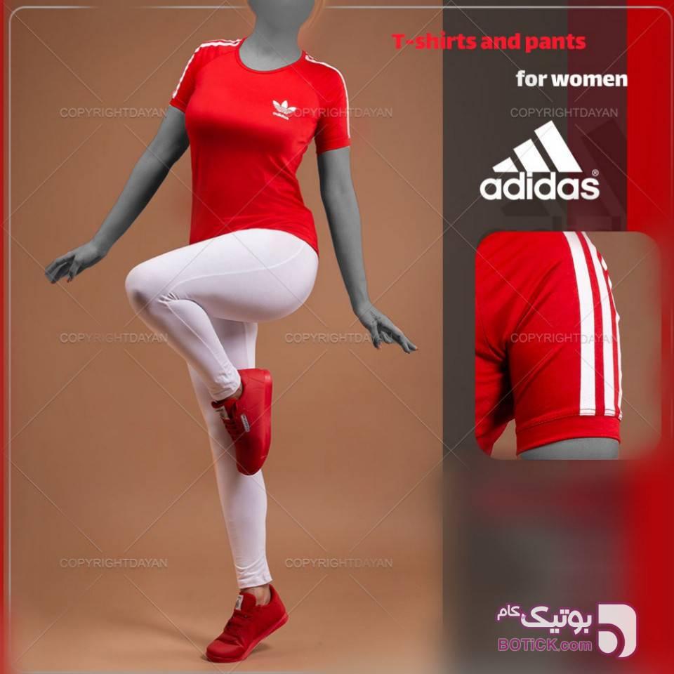 ست تیشرت و شلوار زنانه  قرمز ست ورزشی زنانه