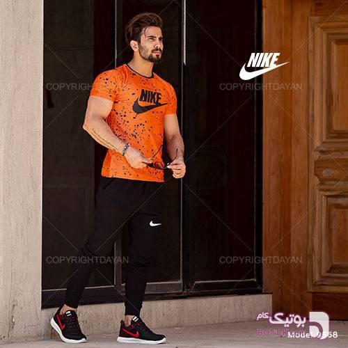 ست تیشرت و شلوار مردانه Nike مدل S9568 مشکی ست ورزشی مردانه