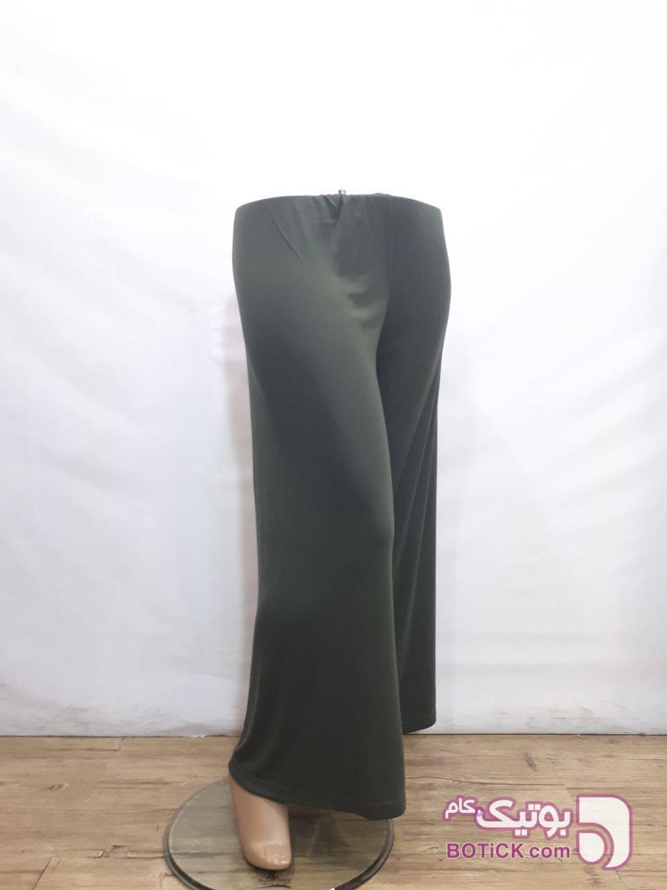 دامن شلواری تریکو فانریپ مشکی لباس راحتی زنانه