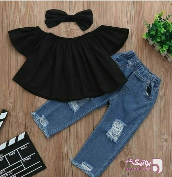 بلوز شیک مشکی لباس کودک دخترانه