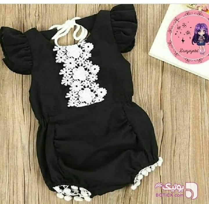 رامپر شیک مشکی لباس کودک دخترانه
