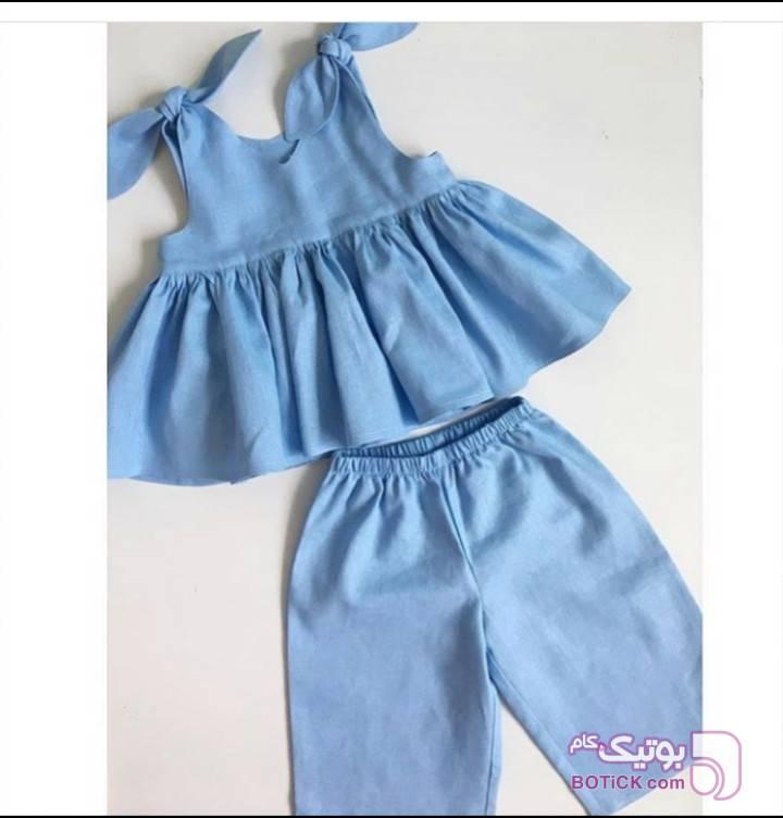 ست دخترانه آبی لباس کودک دخترانه