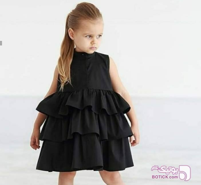 پیراهن محرمی مشکی لباس کودک دخترانه