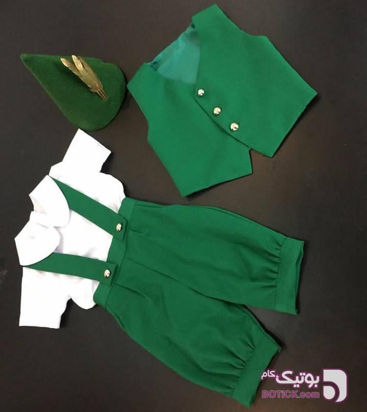 ست پسرانه شیک  سبز لباس کودک پسرانه