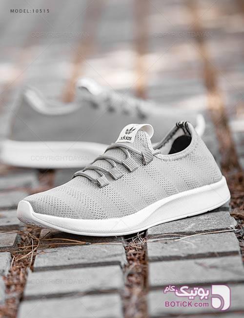 کفش مردانه Adidas مدل 10515 طوسی كتانی مردانه