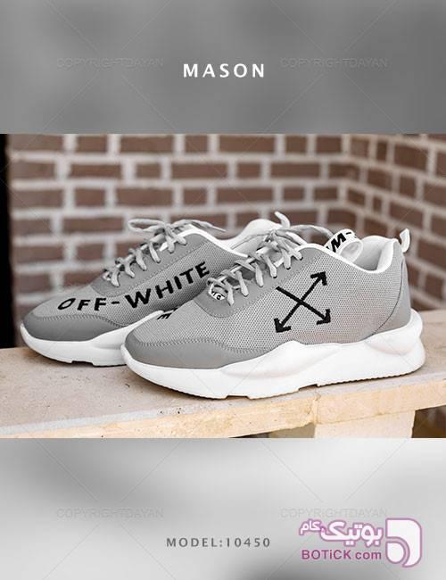 کفش مردانه Mason مدل 10450 طوسی كتانی مردانه