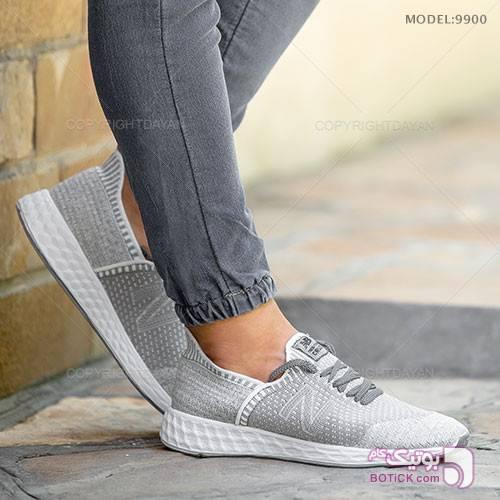 کفش مردانه New Balance مدل Q9900 طوسی كتانی مردانه
