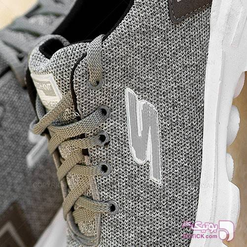 کفش مردانه Skechers مدل 10297 طوسی كتانی مردانه
