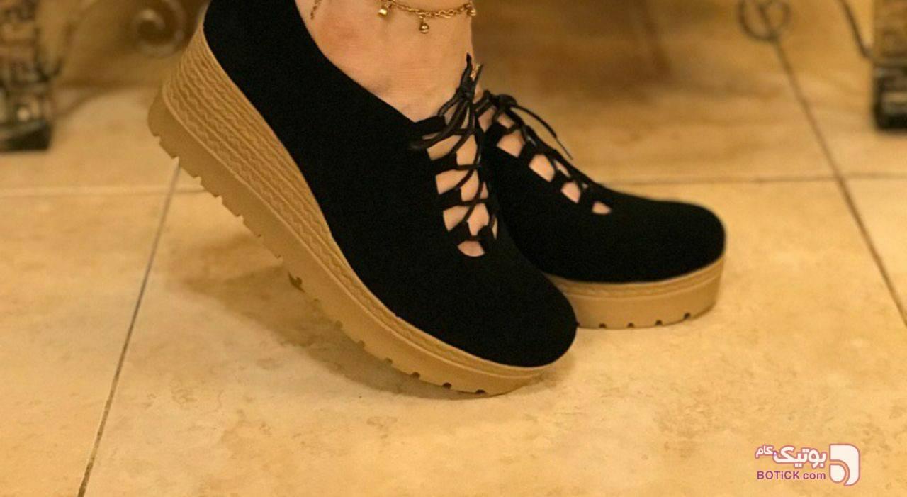 کفش لژ۷ سانت زیبا بسیار سبک و خوش پا  مشکی كفش زنانه