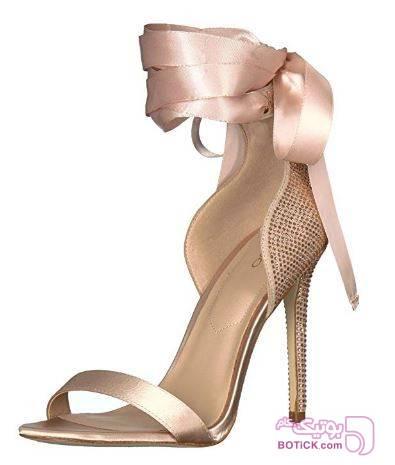 کفش پاشنه بلند زنانه  کرم كفش زنانه
