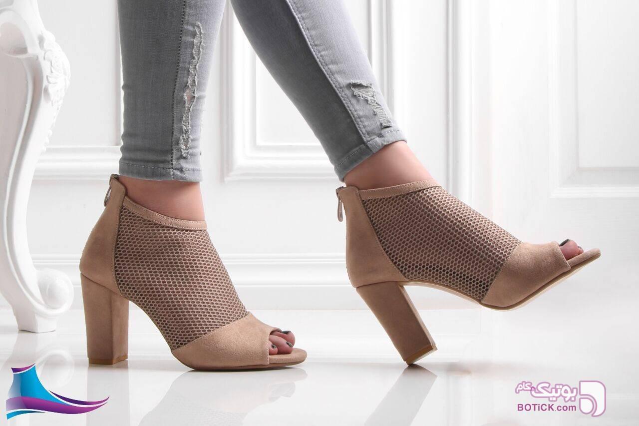 کفش کد 366 جنس سوییت  پاشنه 7 سانت  مشکی كفش زنانه