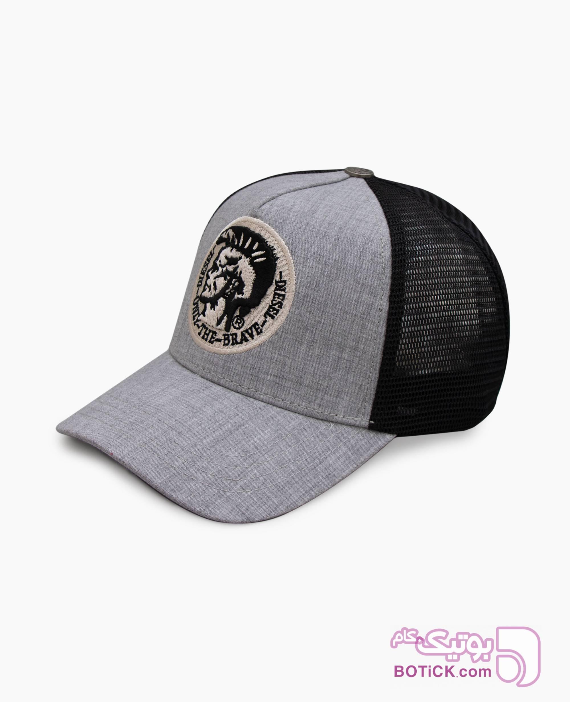 کلاه لبه گرد Diesel کد 5516 طوسی کلاه و اسکارف
