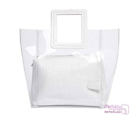 کیف مدل transparent  سفید كيف زنانه