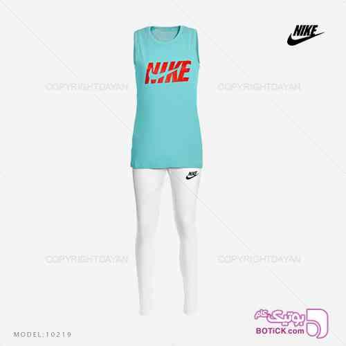 ست تاپ و شلوار زنانه Nike مدل 10219 فیروزه ای 98 2019