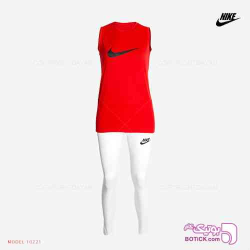 ست تاپ و شلوار زنانه Nike مدل 10221 قرمز 98 2019