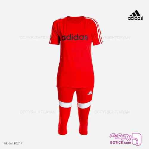 ست تیشرت و شلوارک زنانه Adidas مدل 10217 قرمز 98 2019