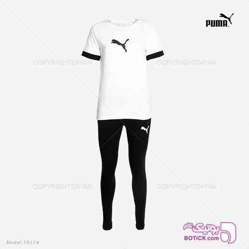 ست تیشرت و شلوار زنانه Puma مدل 10224 مشکی 98 2019