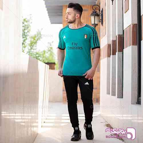 ست تیشرت و شلوار مردانه Adidas مدل Resen مشکی 98 2019