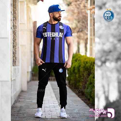 ست تیشرت و شلوار مردانه Esteghlal آبی 98 2019