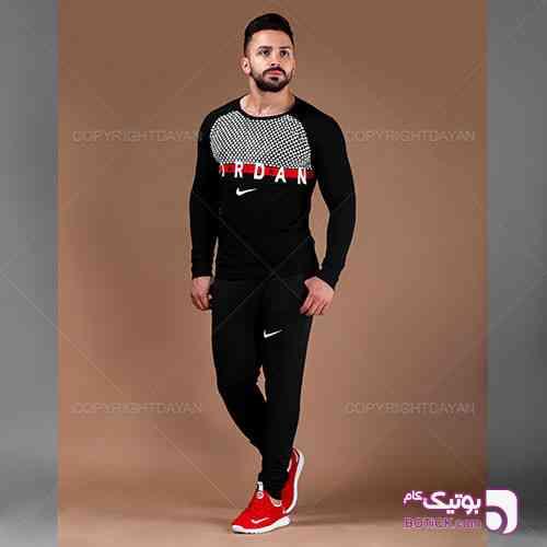 ست تیشرت و شلوار مردانه Jordan مدل G9289 مشکی 98 2019