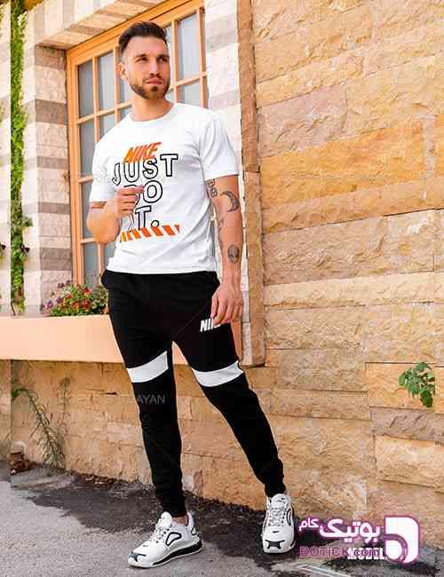 ست تیشرت و شلوار مردانه Nike مدل S9764 مشکی 98 2019