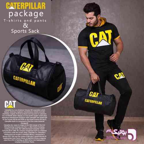 پکیج ست تیشرت وشلوار و ساک ورزشی Cat - ست ورزشی مردانه