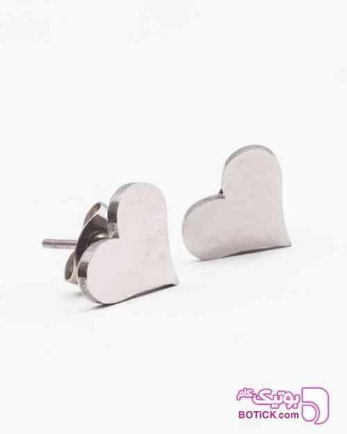 گوشواره استیل طرح قلب زنانه نقره ای 98 2019