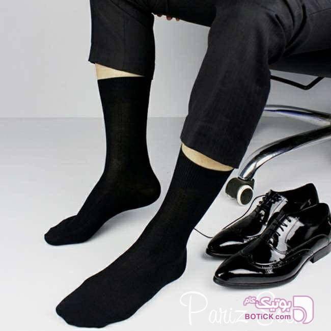 جوراب مشکی مردانه مشکی جوراب و پاپوش