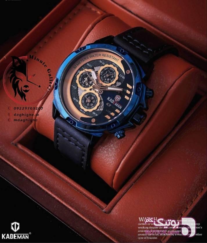 ساعت مردانه کدمن سورمه ای ساعت