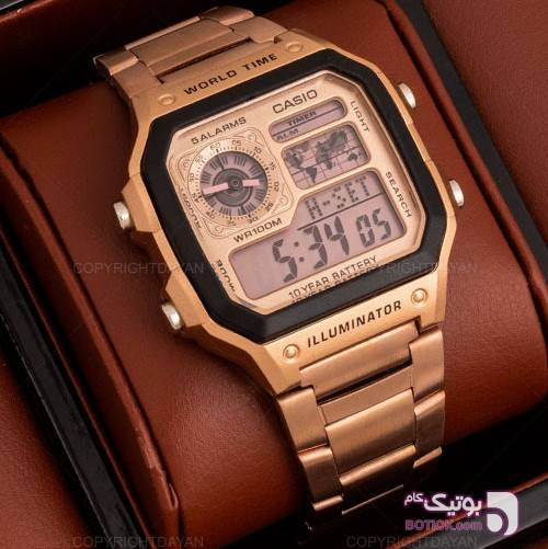 ساعت مچی Casio مدل 10739 طلایی ساعت