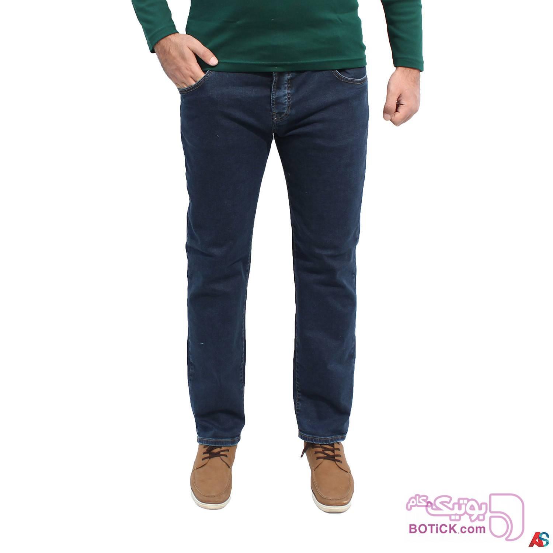 شلوار جین راسته کد محصول paj1023 سفید سایز بزرگ مردانه
