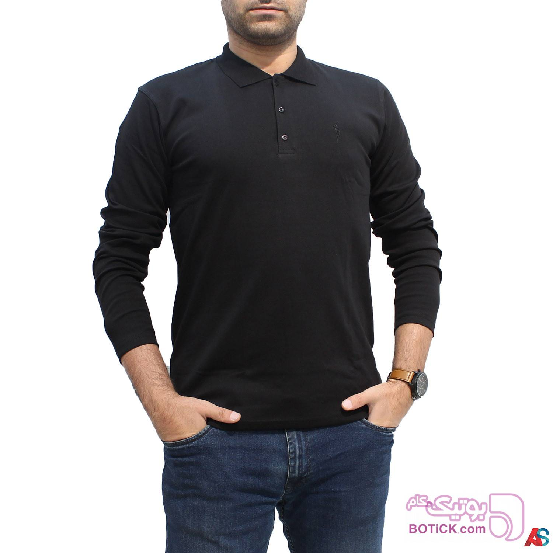 پلیور آستین بلند کد محصول b0p203 مشکی سایز بزرگ مردانه