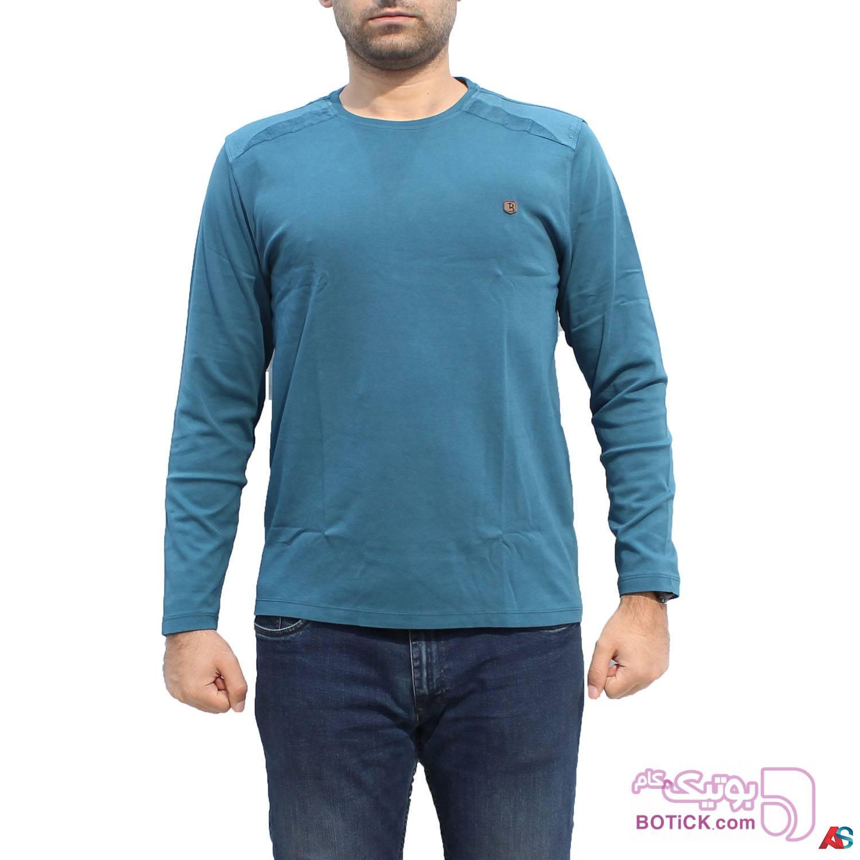 پلیور آستین بلند کد محصول b0p207 آبی سایز بزرگ مردانه