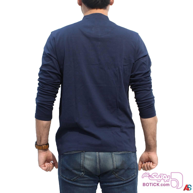 پلیور آستین بلند کد محصول b0p209 سورمه ای سایز بزرگ مردانه