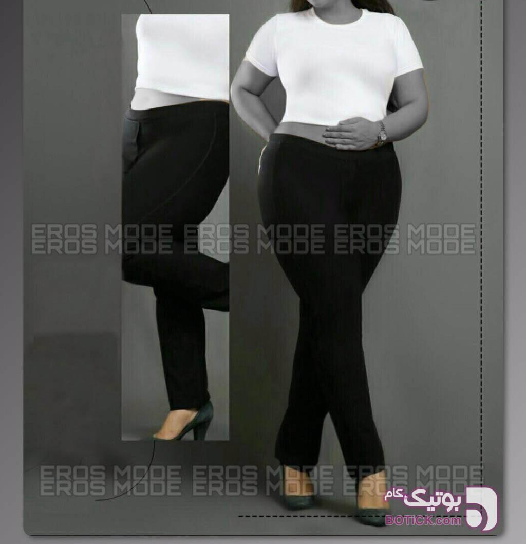 شلوار راسته بسیار زیبا سایز بزرگ  مشکی شلوار زنانه