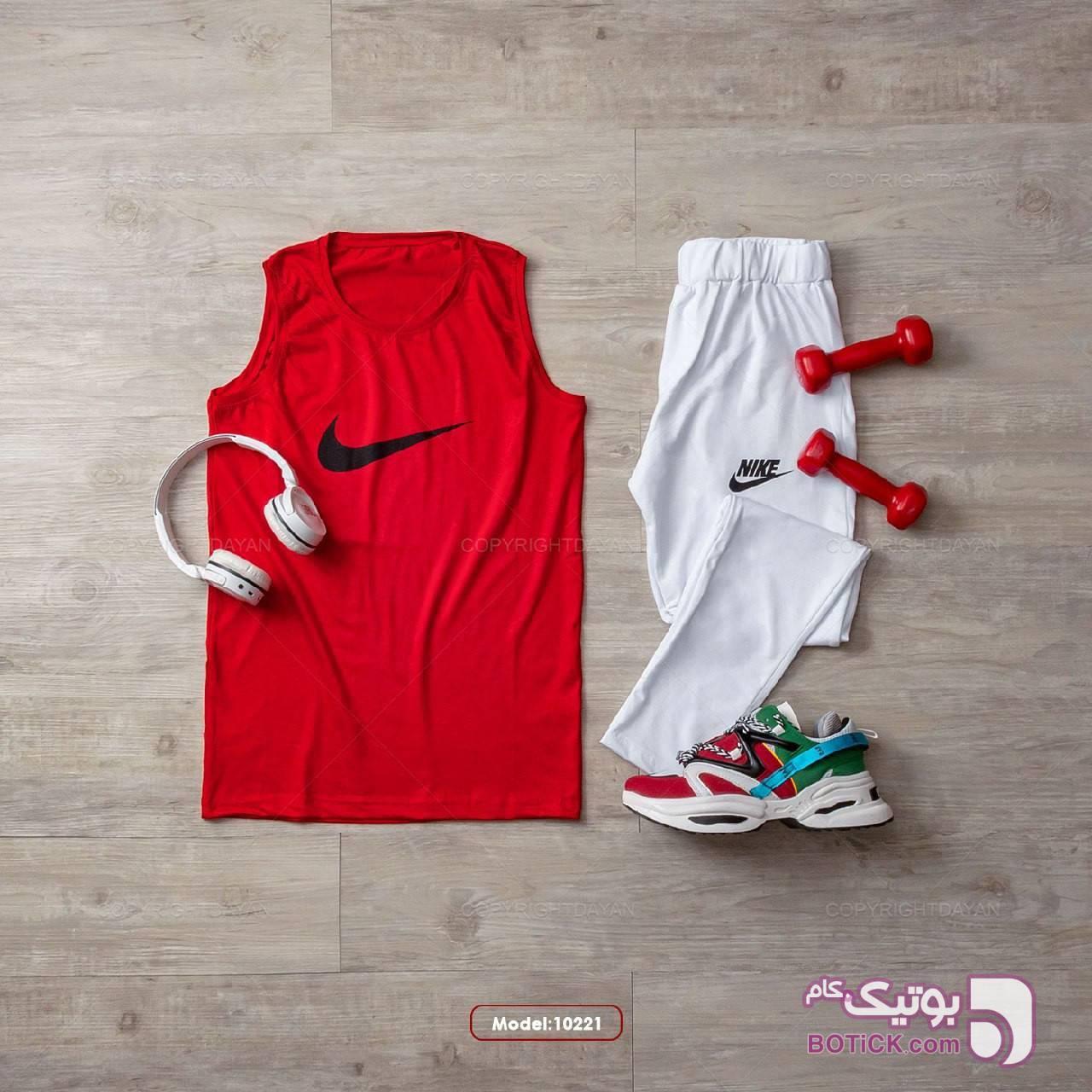 ست تاپ و شلوار زنانه نایک قرمز لباس راحتی زنانه