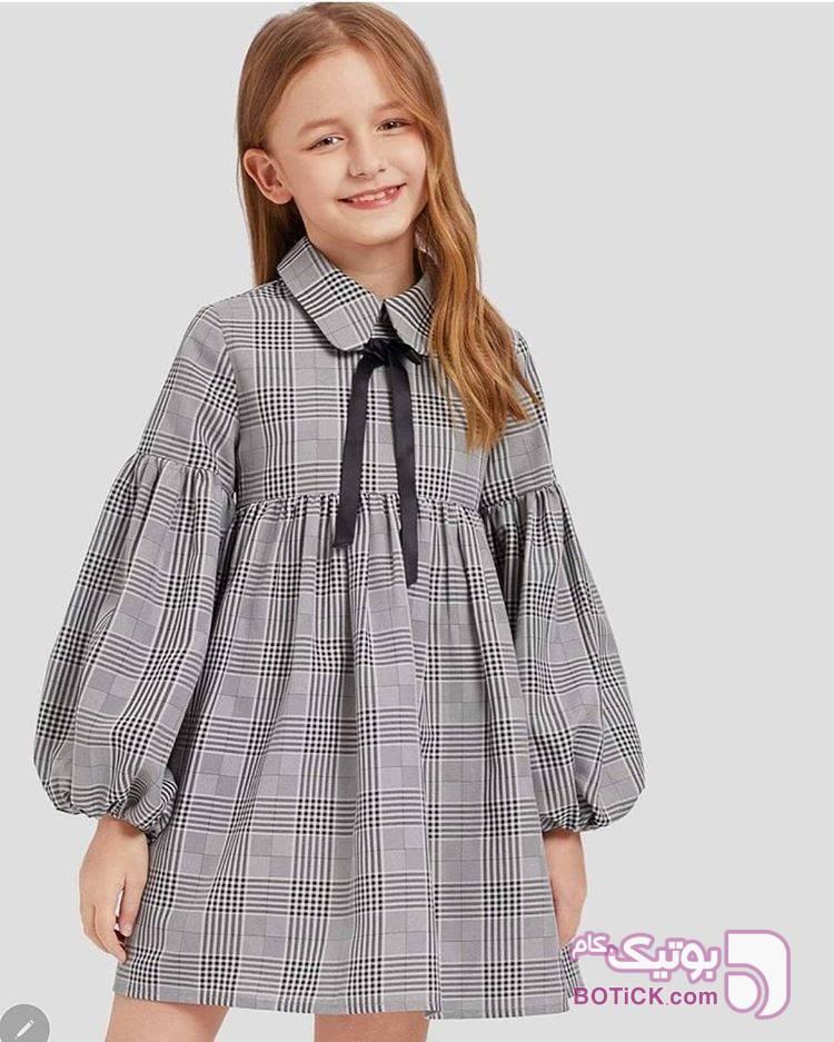 پیراهن پاییزی نقره ای لباس کودک دخترانه