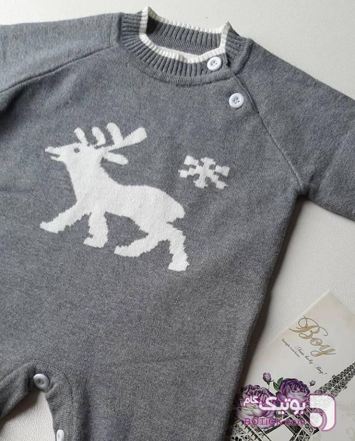 سرهمی بافت اسپرت نقره ای لباس کودک پسرانه