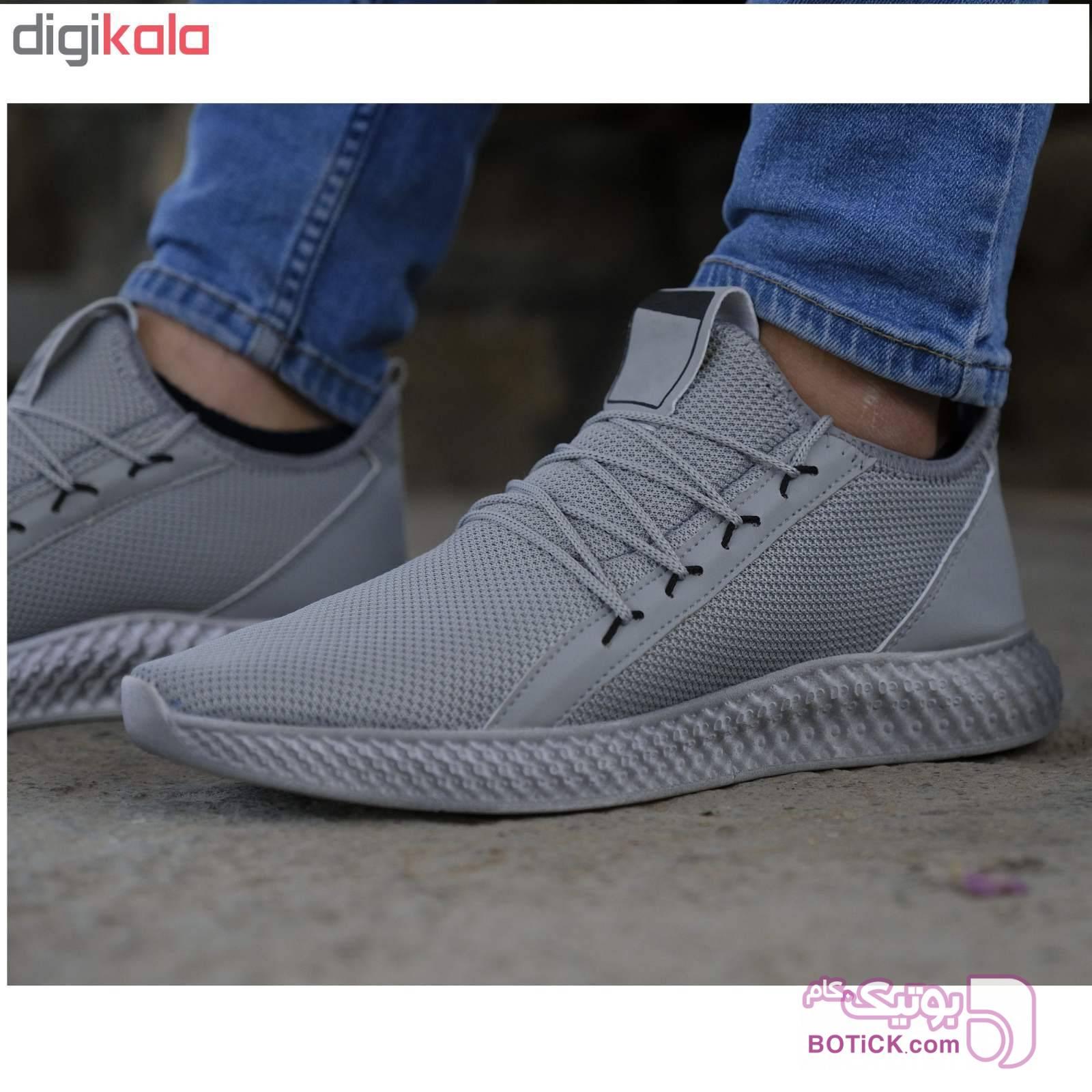 کفش مردانه مدل adi-super  طوسی كتانی مردانه