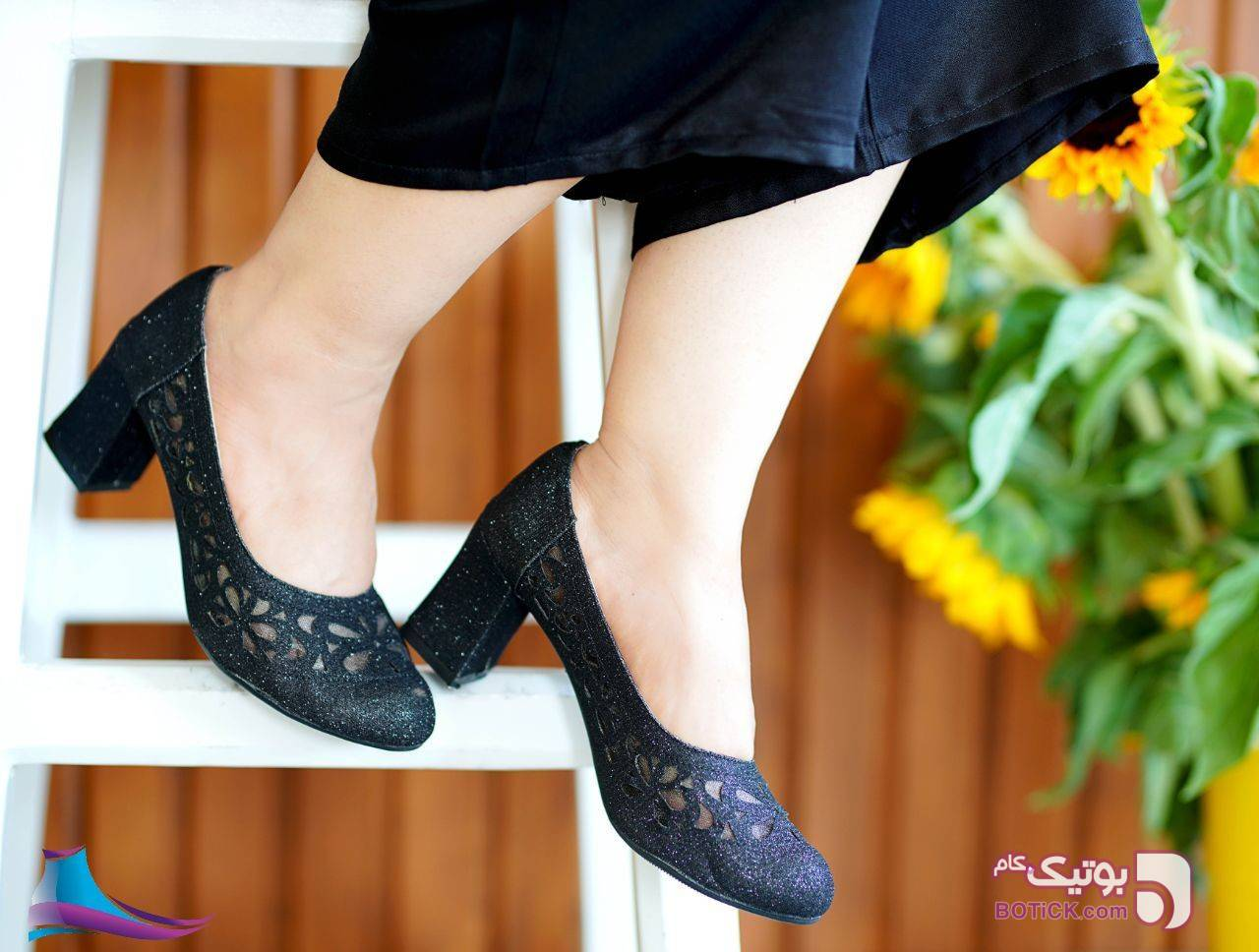 کفش شیک کد 670 پاشنه 7سانت مشکی كفش زنانه