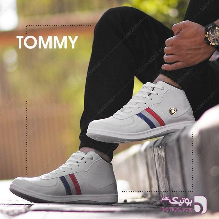 کفش ساقدار تامی سفید كفش مردانه