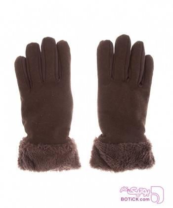 دستکش زنانه جوتی جینز JootiJeans قهوه ای کلاه بافت و شال گردن و دستکش