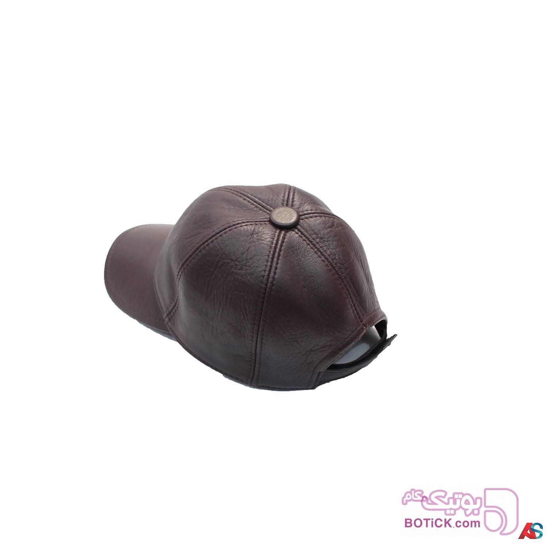 کلاه لبه دار اسپرت چرم کد محصول chk102 سفید کلاه و اسکارف