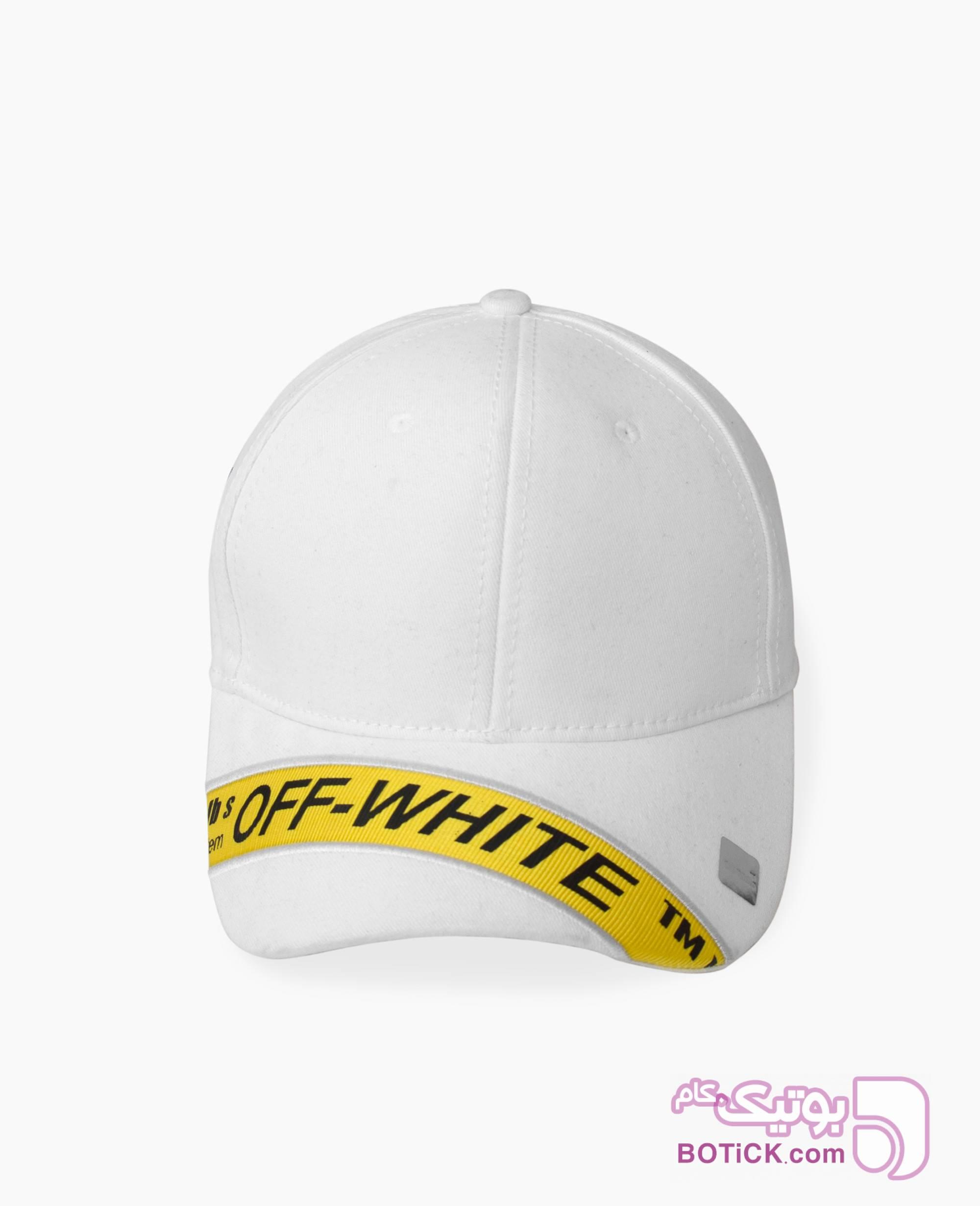 کلاه لبه گرد Off-White کد 6283 سفید کلاه و اسکارف